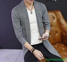 Fashion Men's coat Long-sleeved knit cardigan sweater air shirt outwear jacket