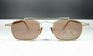 Rodenstock Glasses R1761 A Sun Contrast UV400 Elegant Double Bridge Gold Pilot M