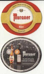 European Beer Stars___MURAUER Bier___Bierdeckel Österreich