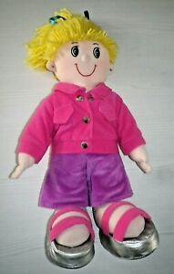 """Boots Learning Through Play Party Heidi Dress Up Doll Plush Soft Toy 16"""""""