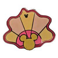 Disney 2010 Hidden Mickey Pin Trading Pink Clam Shell Beach Club Pin
