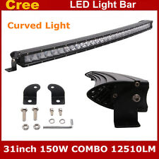 Curved 31''inch Single Row 150W 3D Offroad LED Light Bar Car ATV For Jeep 30/32