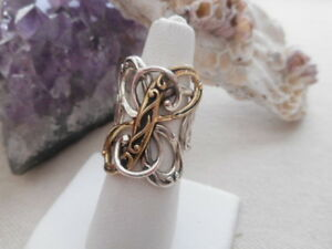 Relios Carolyn Pollack Sterling Silver Brass Butterfly Ring   RE986