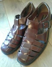 mens Stacy Adams size 9 1/2m brown sandals