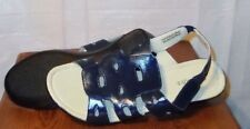 Womens Sierra By Classique Navy Sandals W/Cutouts Wedge Heels  Size 11M  *New