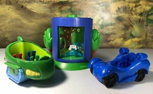 PJ Masks green and blue cars vehicles transforming chamber playset replacements