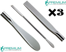 3 Pcs Lab Spoon Spatula 18cm Double Ended Medical Mixing Dental Instruments