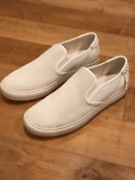 Coach G1668 C115 White Leather & Suede Fashion Slip On Shoes Men's Size 11 D New