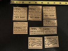 Houdini Newspaper Clippings