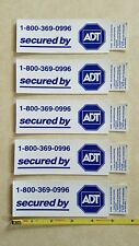 """5 New- """"Secured by ADT"""" Stickers"""
