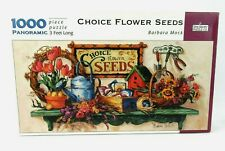 Spilsbury 1000 Pc 3 FT Panoramic Jigsaw Puzzle Choice Flower Seeds Barbara Mock