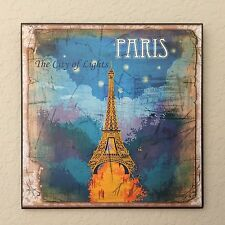 Vintage Retro Look Paris Plaque Wall Decor French Country Cottage
