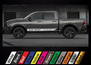 2pcs stickers for Dodge RAM 1500 graphics side stripe decal sticker #15