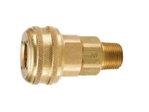 "Parker B34 Brass Quick Coupler 3/8"" MNPT x 3/8"" Body"