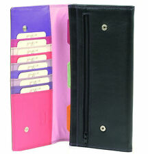 Travel Passport Wallet Golunski Multi-Colour Leather Organizer Black Haze 127