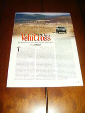 1999 ISUZU VEHICROSS   ***ORIGINAL ARTICLE***