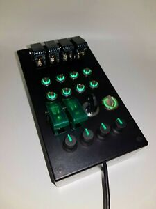 PC USB button Box 29 functions back lit metallic buttons Green truck simulators