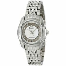 Bulova Women's 96R141 Precisionist Tanglewood Diamond Steel Bracelet Date Watch