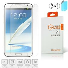 3x Nacodex For Samsung Galaxy Note 2 N7100 Tempered Glass Screen Protector Film