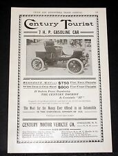 1903 OLD MAGAZINE PRINT AD, CENTURY TOURIST 7 H.P. GASOLINE CAR, FOR THE MONEY!