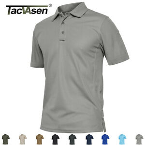 Tactical Men's Utility Short-Sleeve Polo Shirt Golf Team Sports Jersey Tee Tops