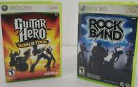 XBOX 360 Live Guitar Hero World Tour and Rock Band Bundle