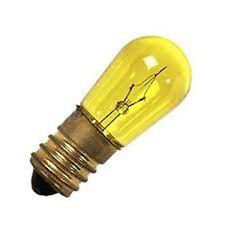 WIMEX 4500430 LAMPADA LUMINARIA AD INCANDESCENZA GIALLA 14V 5W-CONF. 10 LAMPADE