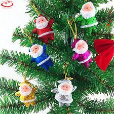 6pcs Multi-Color Santa Claus Christmas Decorations Xmas Tree Hanging Ornaments