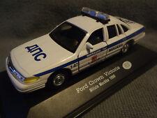"""AUTO della polizia mokba Mosca RUSSO 1998 FORD CROWN VICTORIA """"RARO"""" 1-43 vecchio stock"""