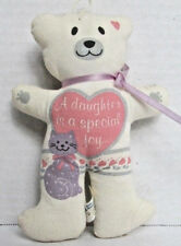 "BABY'S PLUSH TOY - ""A daughter is a special joy"" - ornament with cat -noteworthy"