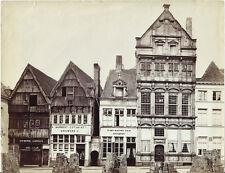 Photo vers 1880 albumen Belgique Belgium/ Estaminet  Malines Mechelen Anvers