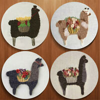 Alpaca Embroidery Starter Cross Stitch Kits Sewing Craft at Home
