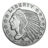 5~OZ ~ PURE .999 SILVER ROUND ~ INDIAN HEAD ~ AWESOME ~ $148.88 ~FREE SHIPPING !