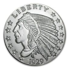 5~OZ ~ PURE .999 SILVER ROUND ~ INDIAN HEAD ~ AWESOME ~ $118.88 ~FREE SHIPPING !