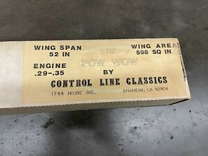 The POW WOW Control Line Classics Model Airplane Kit
