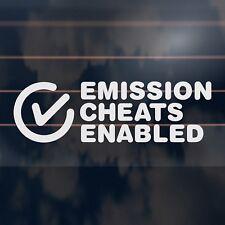 EMISSION CHEATS ENABLED funny volkswagon vw van diesel soot Car Sticker 190mm