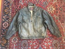 ANDREW MARC Distressed Leather Cafe Motorcycle Jacket XL Extra Large