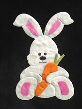 5 Bunnies Easter bunny rabbit Diecut Handmade mulberry paper Scrapbooks Cards