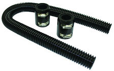 """36"""" Black Stainless Flexible Radiator Hose Kit W/ Billet Clamp Covers Chevy Ford"""