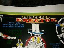 Gilbert Erector SET #8 1/2 ALL ELECTRIC FERRIS WHEEL Label WHISTLE FEATURE REPRO