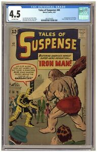 Tales of Suspense 40 (CGC 4.5) 2nd Iron Man (in new armor); Kirby; Ditko A697