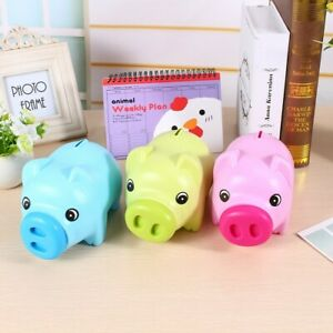 Cute Plastic Bank Coin Money Cash Collectible Saving Box Pig Toy Kids ZZ1