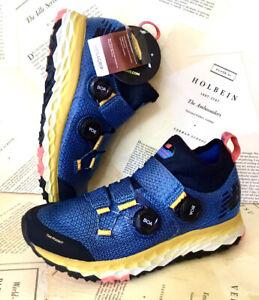 New Balance Fresh Foam Hierro Boa Mens Trail Shoe Blue Mega Grip 8/ 41.5 NWT