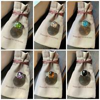 $950 David Yurman Sterling Silver 925 Petite Wheaton Rings & Diamond Variation