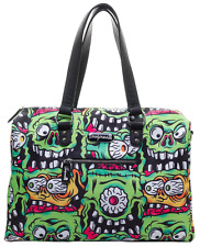 Sourpuss Fink Faces Travel Bag Purse Luggage Monster Punk Goth Rockabilly Horror