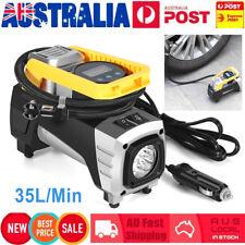12V Digital Display Car Air Compressor Pump Electric Tire Inflator w/ LED Light