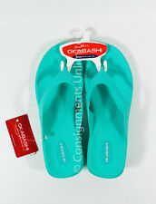"Women's Okabashi Splash Sea Glass 2"" Wedge Flip Flops Thong Sandals Shoes Sz ML"