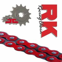 Honda CB125F Chain and Sprocket Kit Red RK Racing JT Sprockets 2015-