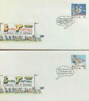 1988 FIRST DAY COVER ISSUE FDC - 'LIVING TOGETHER - A CARTOON VIEW OF AUSTRALIA'
