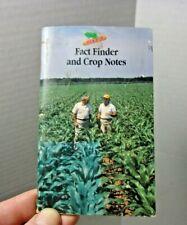 Dekalb Seed Pocket Advertising Agriculture Fact Finder Vintage memo Book Farm